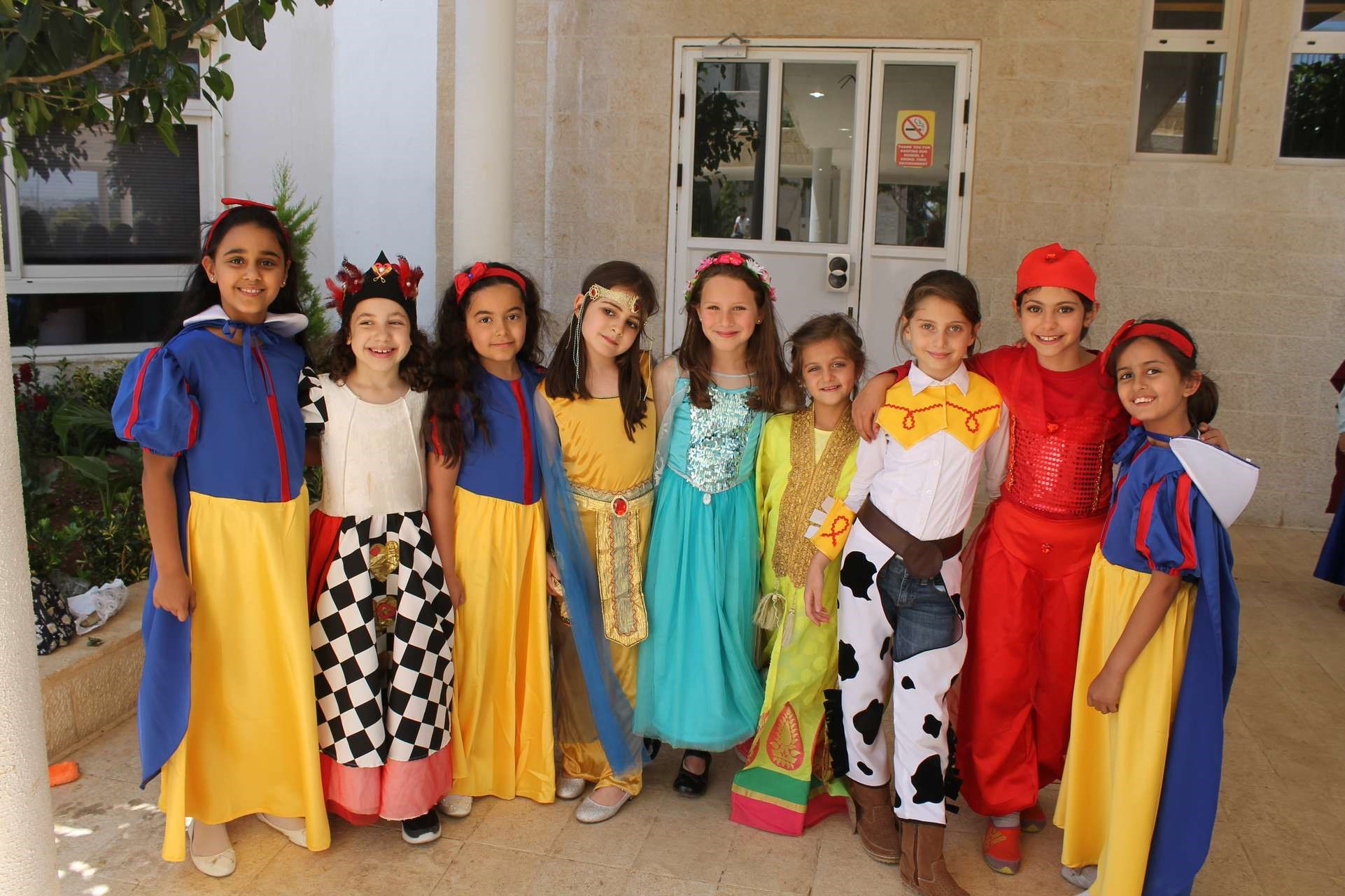 students dress up as their favorite book character at isc amman sabis